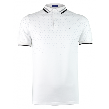 White Grey Polo Shirt Alpha 1