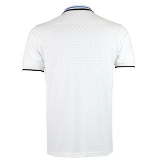 White Blue Polo Shirt Alpha 1