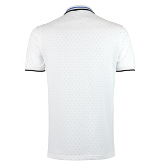 White Blue Polo Shirt Alpha 3