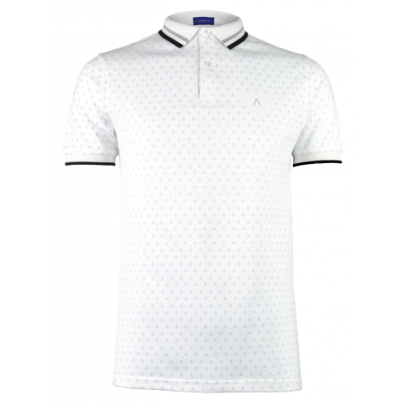 White Grey Polo Shirt Alpha 3