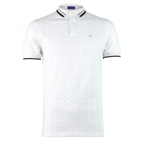 White Grey Polo Shirt Alpha 2