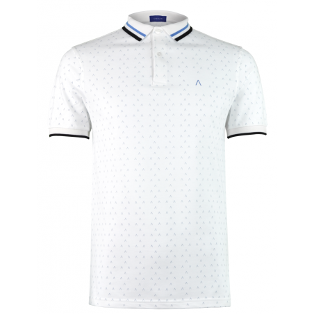 White Blue Polo Shirt Alpha 2