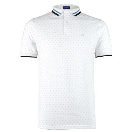 White Turquoise Polo Shirt Alpha 3
