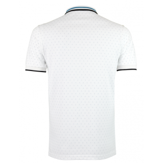 White Turquoise Polo Shirt Alpha 3