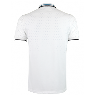 White Turquoise Polo Shirt Alpha 1