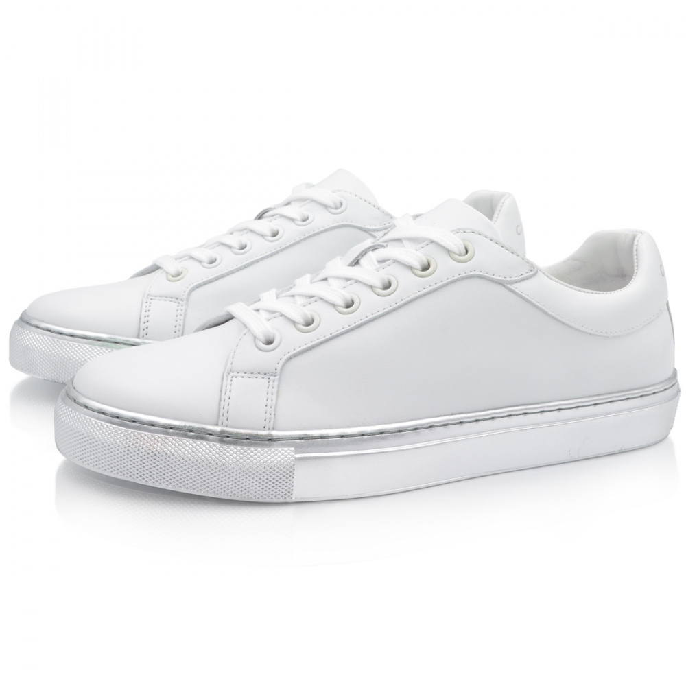 Metallic Silver Sneaker Alpha 1, Women