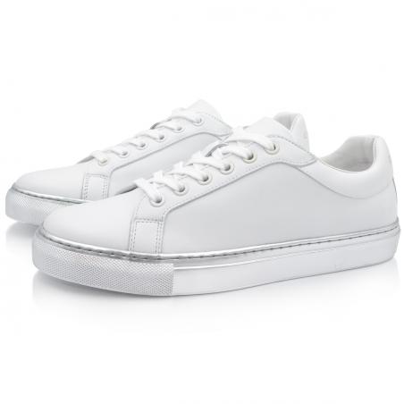 Sneakers Argent Métallique...