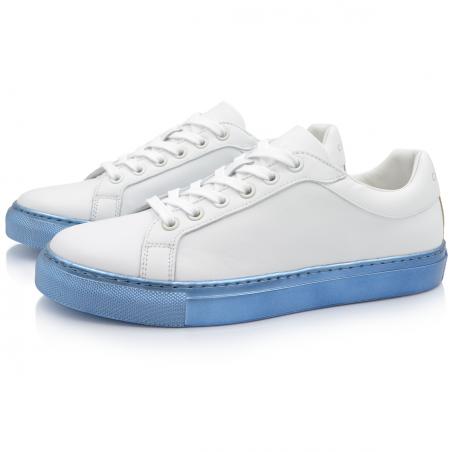 Sneakers Bleu Métallique...