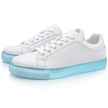 Metallic Turquoise Sneakers Alpha 1