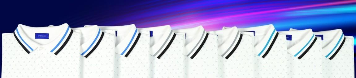 Casolari | Grey Polo Shirt, Turquoise Polo Shirt and Blue Polo Shirt.