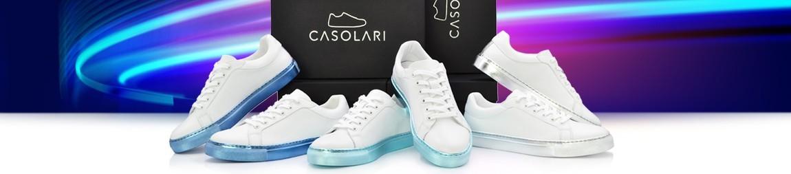 Casolari | Metallic Sneakers, Women and Men's Shoes : Silver, Metallic